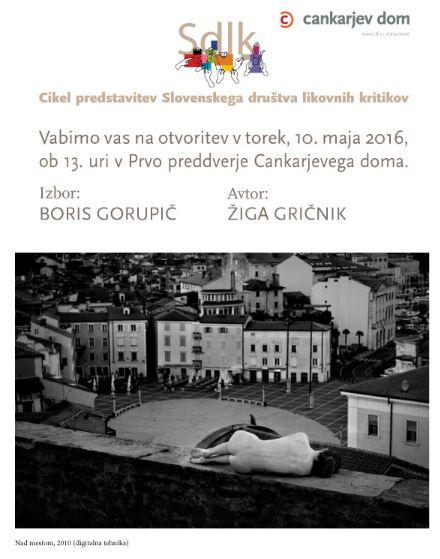 Žiga Gričnik razstavlja v Cankarjevem domu