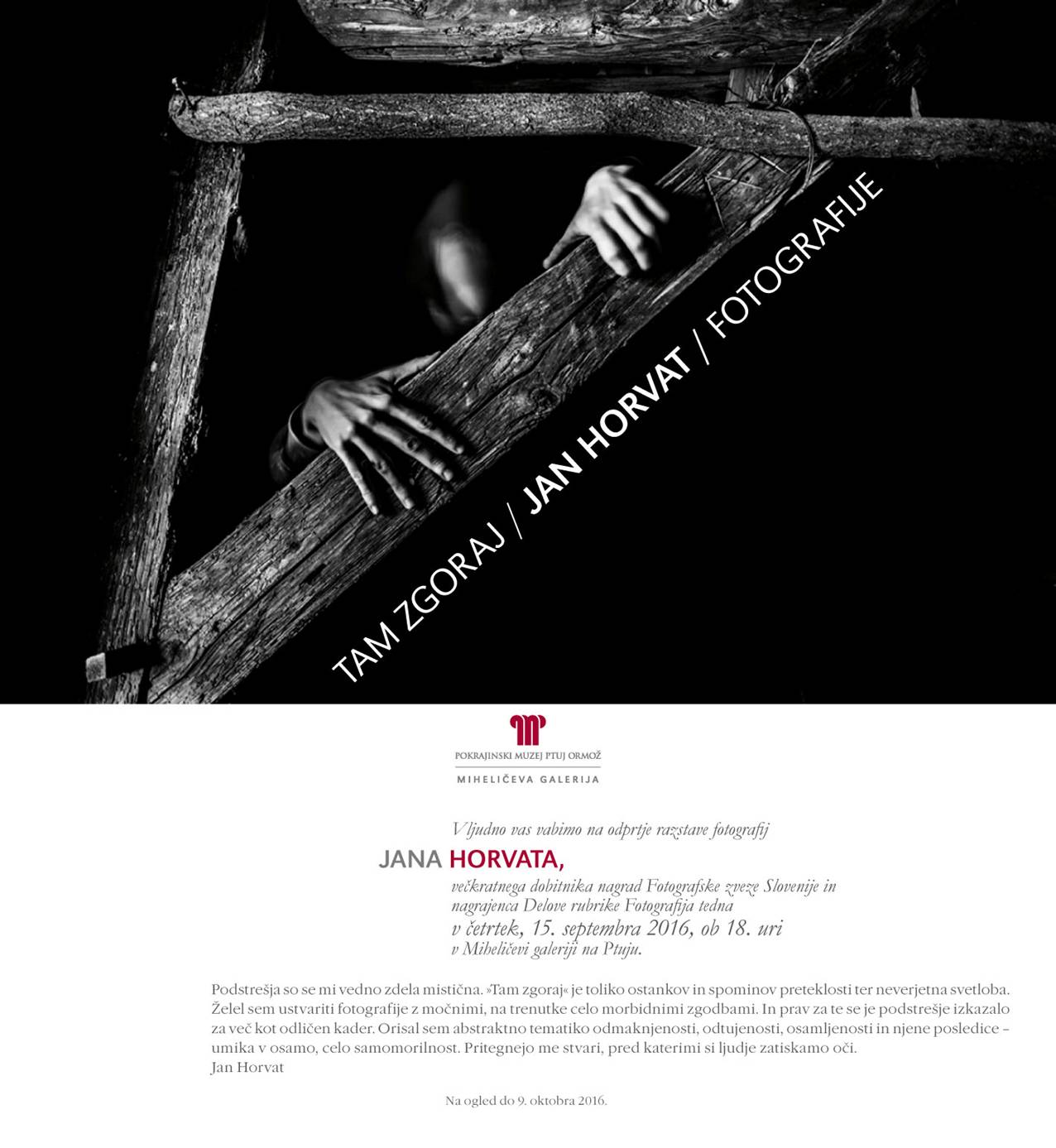 Jan Horvat – Tam zgoraj