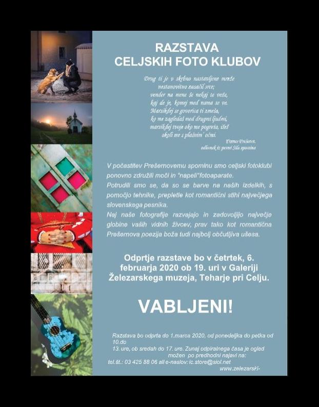 FOTOGRAFSKA RAZSTAVA CELJSKIH FOTOKLUBOV